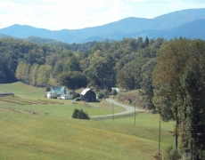 Appalachian Mountains & farmstead