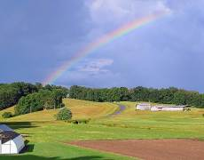 Rainbow Behind The Barn